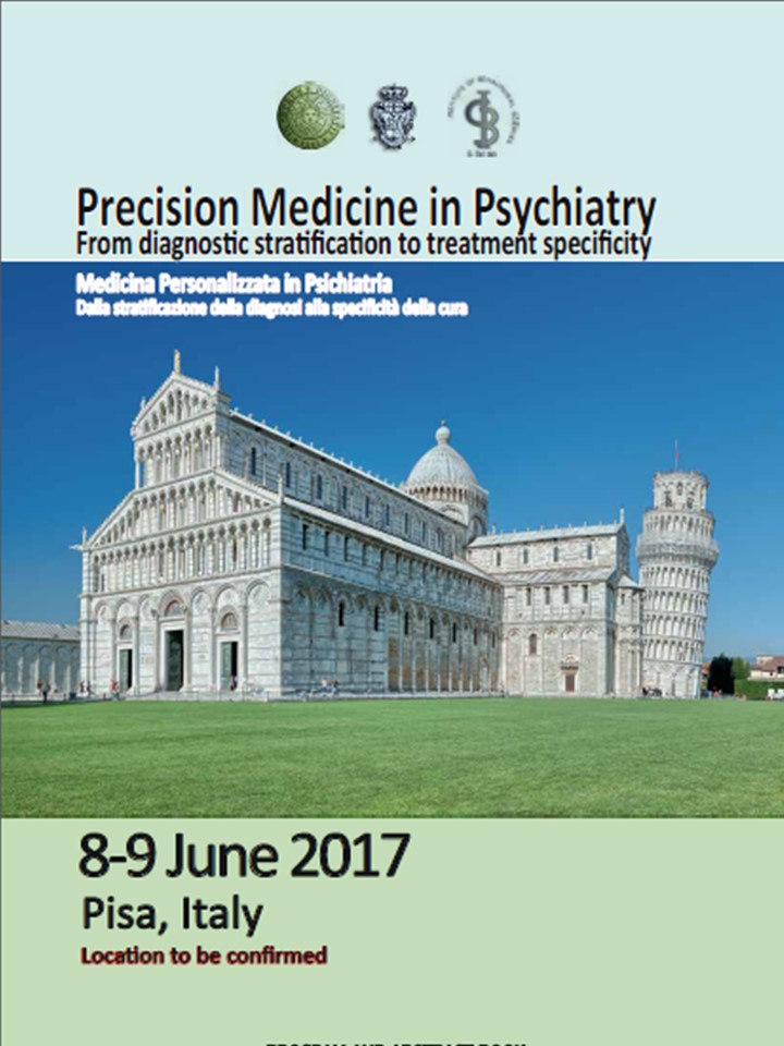 "Únase a nosotros en el ""International meeting on personalized medicine in psychiatry"" en Pisa, 8 de junio a las 10:30h, y converse con nuestro genetista Dr. Miquel Tuson, sobre ""Lessons from the AB-GEN  randomized multicentric trial on practical pharmacog"