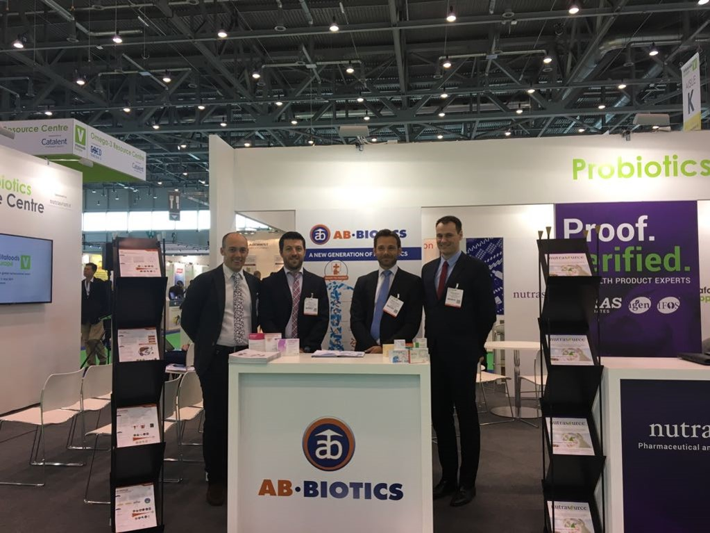 The AB-Biotics team at Vitafoods Europe, 9-11 May 2017, Palexpo (Geneva)